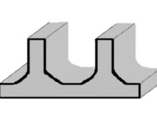 押出材の形状変更による強度の向上